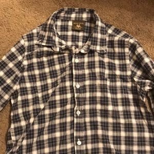 Blue and white flannel